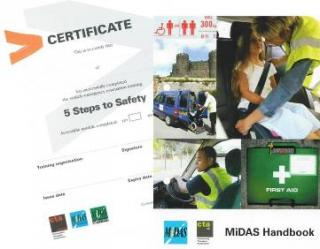 MiDAS Minibus Driver Assessment Awareness Training, D1, MPV, PATs, DATs, Standard, Accessible, Out in 5, Emergency Evacuation, Southwest, UK, Northern Ireland